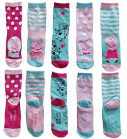 United Labels Peppa Wutz Kindersocken (5er Pack, Größe: 31/34) von United Labels