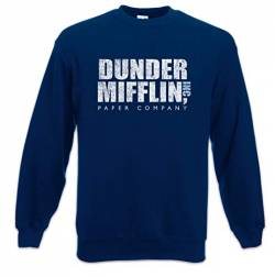 Urban Backwoods Dunder Mifflin Inc Sweatshirt Pullover Blau Größe S von Urban Backwoods