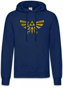 Urban Backwoods Triforce Vintage Logo Hoodie Kapuzenpullover Sweatshirt Blau Größe 2XL von Urban Backwoods