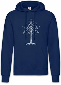 Urban Backwoods White Tree Hoodie Kapuzenpullover Sweatshirt Blau Größe M von Urban Backwoods