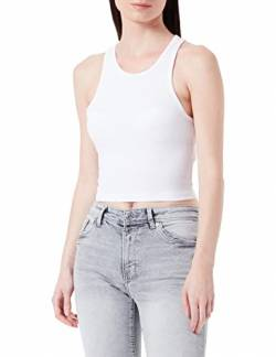 Urban Classic TB1498s Damen Top Ladies Cropped Rib TB1498, Gr. Medium, Weiß (white 220) von Urban Classics