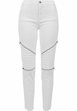 Urban Classics Damen Ladies Stretch Biker Pants Hose, Weiß (White 220), W30 von Urban Classics
