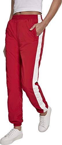 Urban Classics Damen Hose Ladies Striped Crinkle Pants, Rot (Red/Wht 00202), W(Herstellergröße: 3XL) von Urban Classics