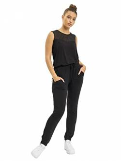 Urban Classics Damen Ladies Tech Mesh Long Jumpsuit, Schwarz (Black 7), One Size (5XL) von Urban Classics