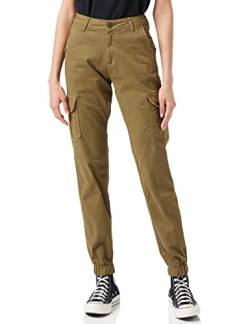Urban Classics Damen Ladies Hose High Waist Cargo Pants, summerolive, 28 von Urban Classics