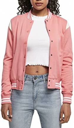 Urban Classics Damen Ladies Inset Sweat Jacket College-Jacke, palepink/whitesand, M von Urban Classics