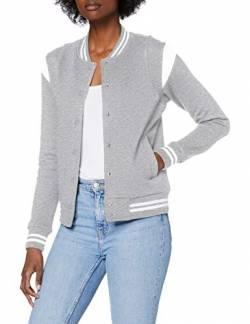 Urban Classics Damen Ladies Organic Inset College Sweat Jacket Jacken, Grey/White, 3XL von Urban Classics