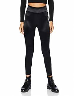 Urban Classics Damen Ladies Shiny High Waist Leggings, Black, 4XL von Urban Classics