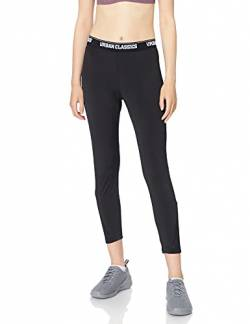 Urban Classics Damen Leggings Ladies Tech Mesh Pedal Pusher Klassische Hose, Black, M von Urban Classics