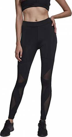 Urban Classics Damen Ladies Triangel Tech Mesh Leggings, Schwarz (Blk/Blk), XL von Urban Classics