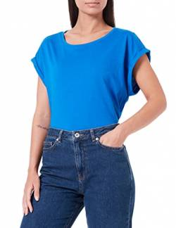Urban Classics Damen Ladies Extended Shoulder Tee T-Shirt, brightblue, M von Urban Classics