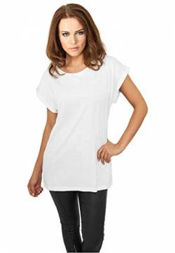 Urban Classics Damen Ladies Extended Shoulder Tee T-Shirt, white, XL von Urban Classics