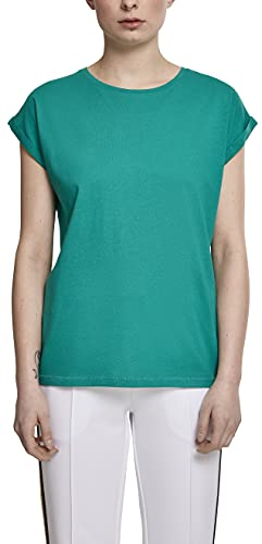 Urban Classics Damen Ladies Extended Shoulder Tee T-Shirt, fresh green, XS von Urban Classics