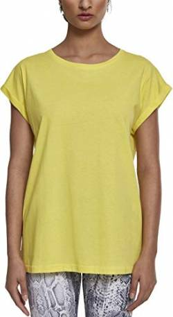 Urban Classics Damen Ladies Extended Shoulder Tee T-Shirt, brightyellow, XL von Urban Classics