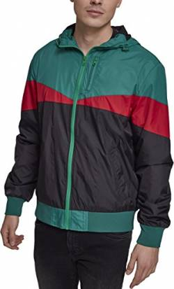 Urban Classics Herren Advanced Arrow Windrunner Jacke, Black/Green/fire red, XXL von Urban Classics