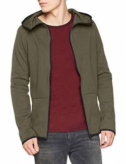 Urban Classics Herren Athletic High Neck Interlock Zip Hoody Kapuzenpullover, Grün (Olive 176), Medium von Urban Classics
