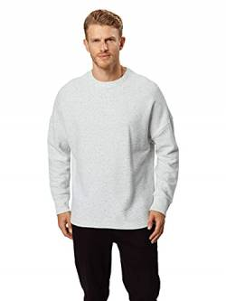Urban Classics Herren Cut On Sleeve Naps Interlock Crew Pullover, Grau (Lightgrey 00143), Large (Herstellergröße: L) von Urban Classics