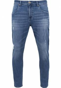Urban Classics Herren Skinny Ripped Stretch Denim Pants Hose, Blau (Blue Washed 799), W32/L32 (Herstellergröße: 32) von Urban Classics