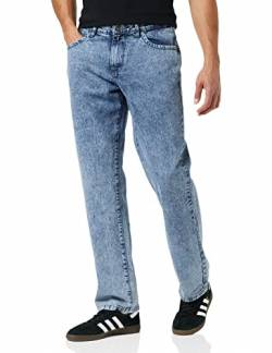 Urban Classics Herren Loose Fit Jeans Hose, Light SkyBlue Acid Washed, 34/32 von Urban Classics