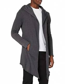 Urban Classics Herren Long Hooded Open Edge Cardigan Strickjacke, Charcoal, 3XL von Urban Classics
