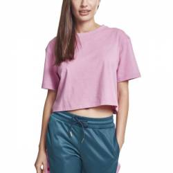 Urban Classics Ladies - Short Oversized Top Shirt bauchfrei von Urban Classics