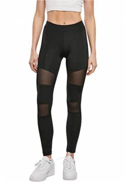 Urban Classics Ladies Tech Mesh Leggings, Schwarz (black 7), M von Urban Classics