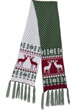 Urban Classics Unisex Christmas Scarf Schal, Mehrfarbig (Green/Red 01547), One Size von Urban Classics
