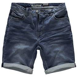 Urban Surface Herren Joggshorts LUS-136 Sweat-Bermuda in Jeans-Optik Middle Blue W38 von Urban Surface