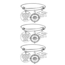 VALICLUD 3Pcs 2021 Graduation Armband Charme Anhänger Gehen Getrost Graduation Schmuck Geschenke Graduation Souvenir Für Graduate Student Geschenk Graduation Party Supplies Party Favors von VALICLUD