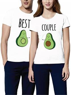 VIVAMAKE - Partner Look T-Shirts Damen und Herren Couple Shirt Beste Beste Partner Geschenke für Pärchen Herren weiß größe M von VIVAMAKE