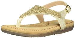 VOLATILE Girls T-Strap Flat Sandal, Gold, 10 Little Kid von VOLATILE