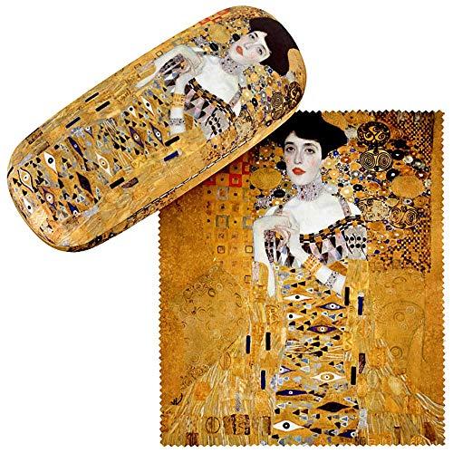 VON LILIENFELD Brillenetui Geschenk Stabil Set mit Putztuch Damen Herren Kunst Motiv