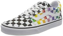 Vans Damen Ward Canvas Sneaker, (Rainbow Check) Black/White, 38 EU von Vans