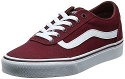 Vans Damen Ward Canvas Sneaker, Rot ((Canvas) Burgundy Olq), 39 EU von Vans