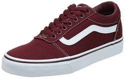 Vans Herren Ward Canvas Sneaker, Rot (Canvas) Port Royale/White 8J7), 41 EU von Vans