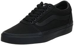 Vans Herren Ward Canvas Sneaker, Schwarz (Canvas) Black 186), 41 EU von Vans
