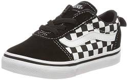Vans Unisex Baby Ward Slip-on Canvas Sneaker, Schwarz ((Checkers) Black/True White PVC), 26 EU von Vans