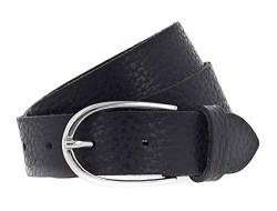 Vanzetti Glitter Radiance 30mm Metallic Belt W90 Black Metallic von Vanzetti