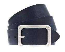 Vanzetti Neon Booster 35mm Full Leather Belt W100 Nightblue von Vanzetti