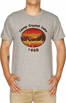 Camp Crystal Lake - Friday 13th Herren T-Shirt Grau von Vendax