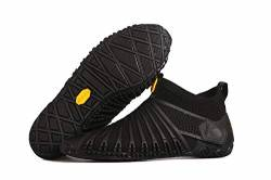Vibram® FiveFingers® Furoshiki Knit HIGH Women - DAS ORIGINAL im Set - Damen Barfußschuh/Wickelschuh im Strickdesign mit praktischem Transportbeutel, Color:Black, Size:38 EU von Vibram