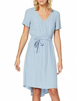Vila NOS Damen VIPRIMERA WRAP S/S Dress-NOOS Kleid, Ashley Blue, 34 von Vila NOS