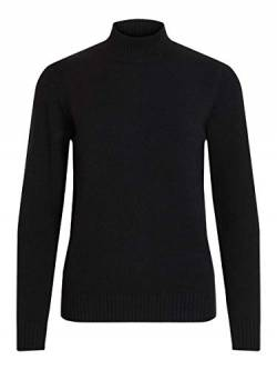 Vila Clothes Damen VIRIL L/S Turtleneck Knit TOP-NOOS Rollkragenpullover, Schwarz (Black), 34 (XS) von Vila