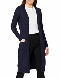 Vila Clothes Damen VIRIL L/S Long Knit Cardigan-NOOS Strickjacke, Blau (Total Eclipse Detail:Melange), XS von Vila