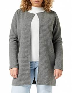 Vila Clothes Damen VINAJA New Long JKT Strickjacke, Grau (Medium Grey Melange), 42 (Herstellergröße: XL) von Vila