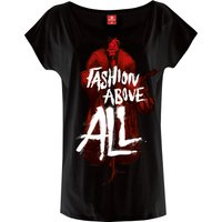 Villains Fashion Above All Damen T-Shirt von Villains