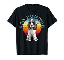 Retro English Springer Spaniel T-Shirt Geschenk Idee von Vintage English Springer Spaniels Retro T-Shirts