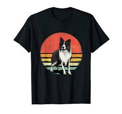 Border Collie Dog Lover Retro Vintage 70s Dog Pet Gift T-Shirt von Vintaged