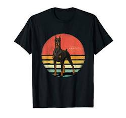Dobermann Dog Lover Retro Vintage 70s Dog Pet Gift T-Shirt von Vintaged