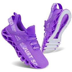 Damen Tennis Sportschuhe Breathable Gym Running Fashion Sneakers,40 EU,Purple von Vivay